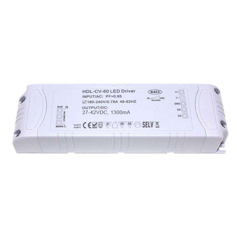 LED Driver 55W, 27-42VDC, 1300mA, DALI Regulable